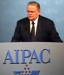 john hagee addressing aipac conference