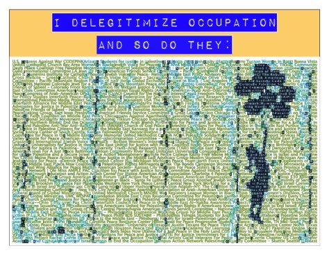delegitimize occupation
