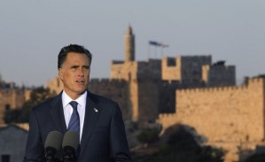 Romney Roils Middle East Waters With Diversions from U.S. Policy and Insults to Palestinians