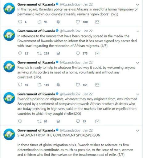 rwanda denies taking refugees from israel