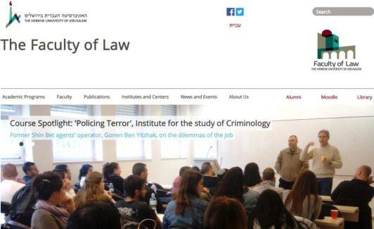hebrew university collaborates with secret police