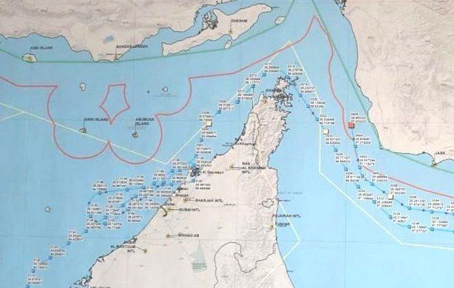 iranian map of drone path