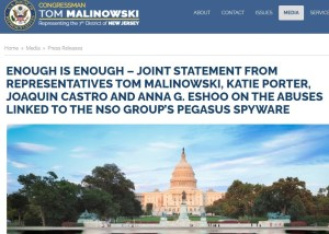 congressional statement against nso group