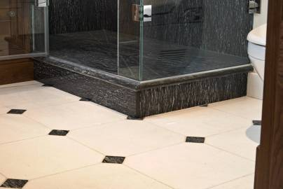 Shower and flooring