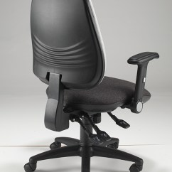 Nhs Posture Chair Yellow Fabric Rocking Platinum Ergo | Richardsons Office Furniture And Supplies