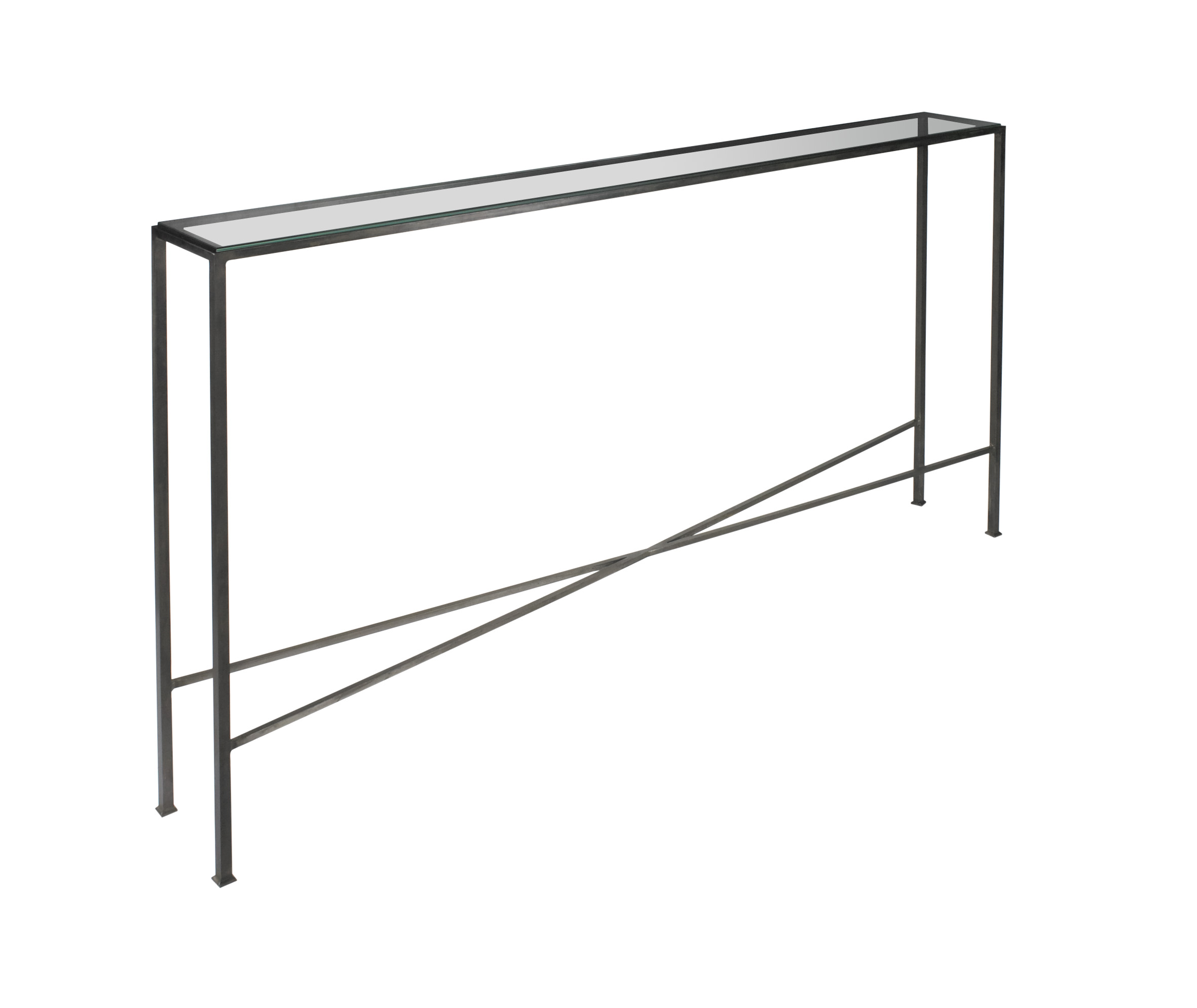 Outline Console Table With X Frame