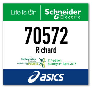 Paris Marathon 2017 Number