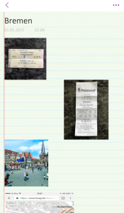 Scrapbooking a trip with Microsoft OneNote