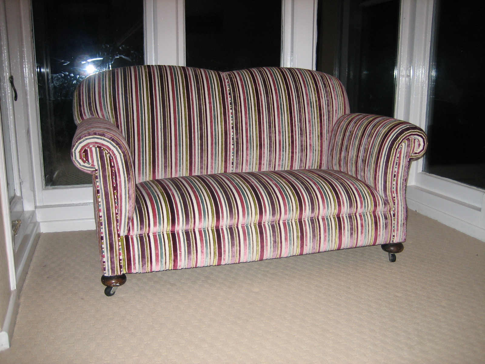 striped fabric sofas uk fixing a broken sofa arm in stripped