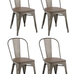 Cafe Chairs Metal Beige Slipper Chair Btexpert Industrial Vintage Tabouret Antique Copper