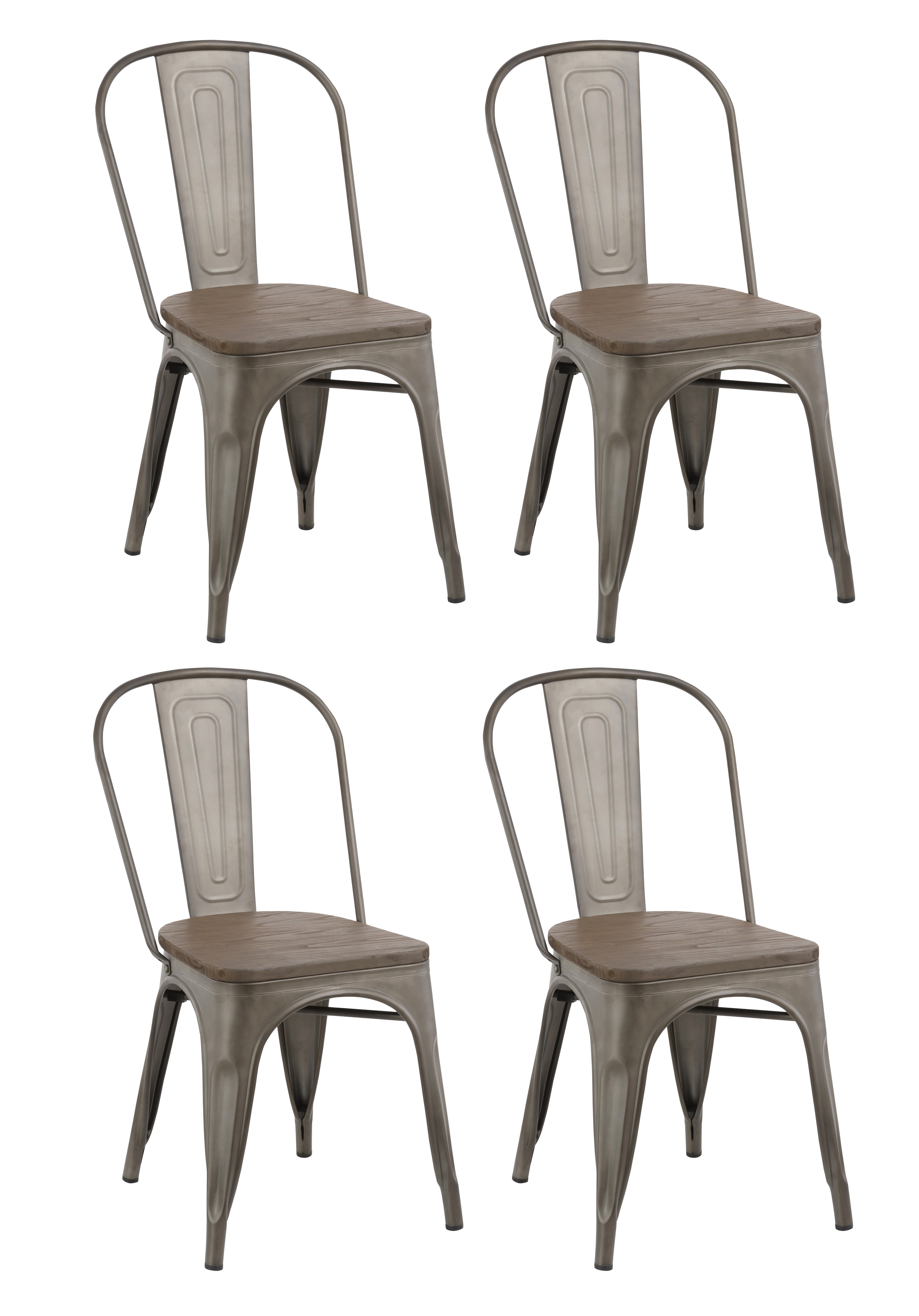 rustic metal dining chairs lafuma anti gravity chair btexpert industrial vintage tabouret antique copper