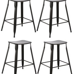 24 Inch Counter Chairs Fabric Dining Room Uk Btexpert Industrial Metal Vintage Stackable Black