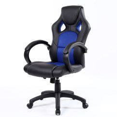 Office Chair Video Game Aluminum Outdoor Chairs And Tables Executive High Back Ergonomic Swivel Tilt Pu Leather