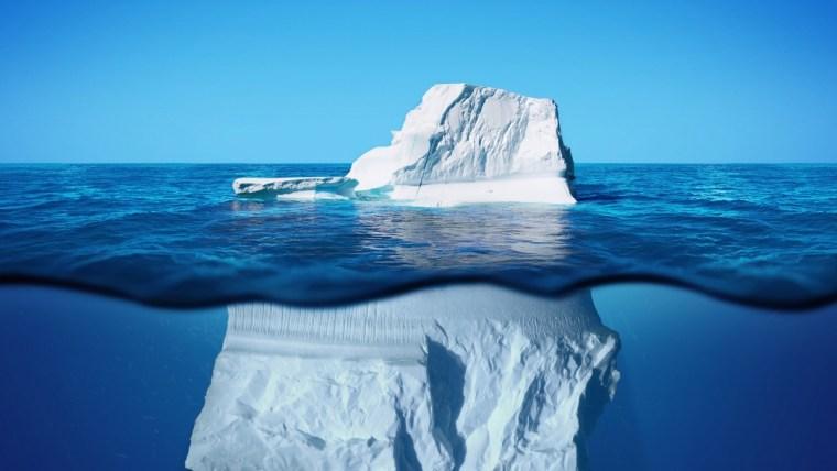 Vorleistung ist wie ein Eisberg