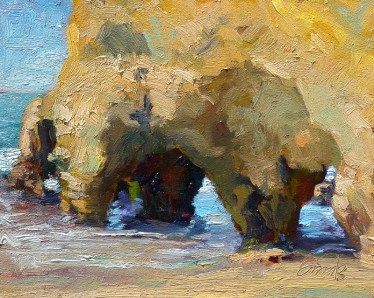 The View Through • 8x10 oil on birch panel (sold)
