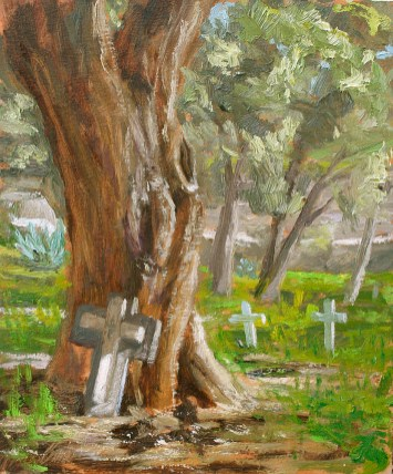 """Remembered - 10"""" x 12"""" oil on Birch Board"""