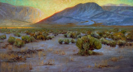 """Last Light–Mono Basin"" 24x44"" $7200"