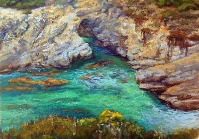 """Door to China Cove. 14x20"""" Oil on Canvas"""