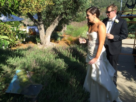 Bride and Groom see painting for first time