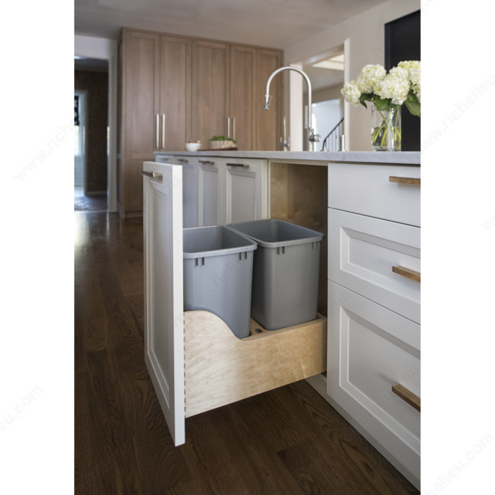blum kitchen bins countertop stools double recycling center richelieu hardware