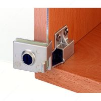 Snap-In Hinge for Glass Door Recessed Within Furniture ...