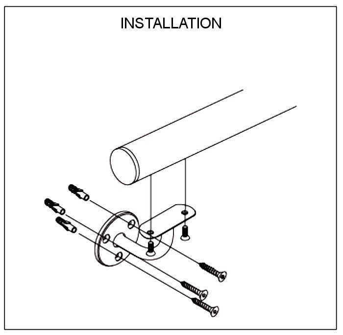 Support robuste avec trois vis d'installation à bras