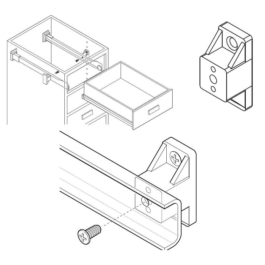 Drawer Spacer 3 4