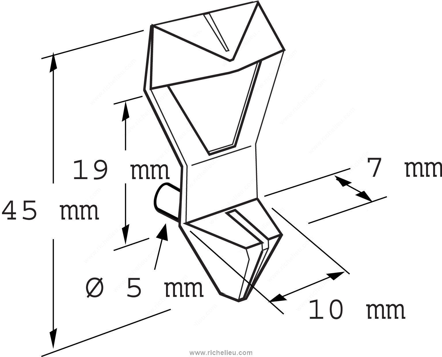 Locking Plastic Shelf Pin
