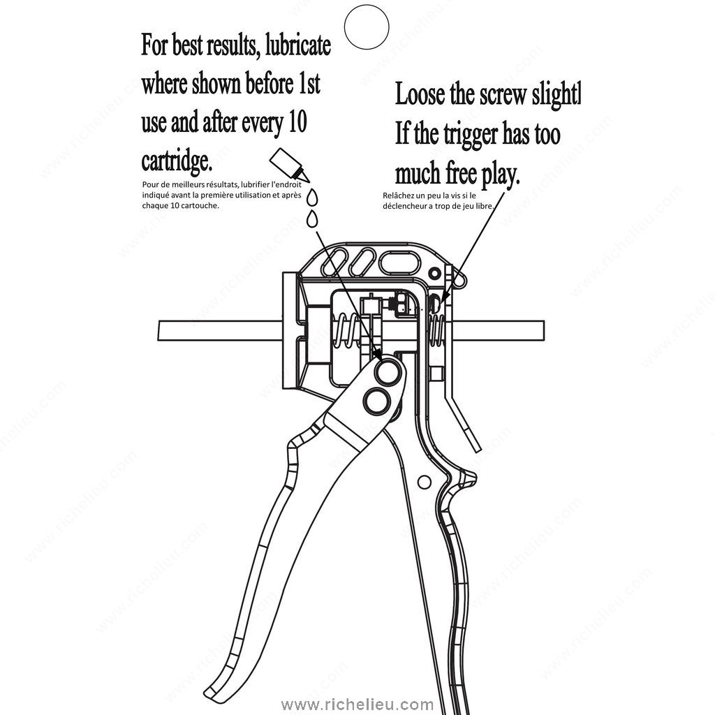 Cradle Barrel Caulking Gun for 310 ml Cartridge