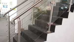 Tubular Hardware For Glass Railing Handrail In Stainless Steel   Glass Balustrade Stairs Near Me   Railing Systems   Handrails   Wood   Floating Stairs   Tempered Glass Panels
