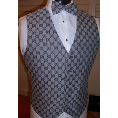Gucci Grey vest and bow tie set