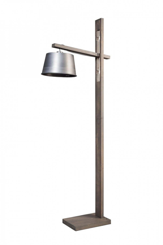 Hhenverstellbare Stehleuchte aus Holz Stehlampe Farbe