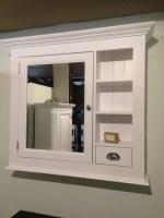 Spiegelschrank weiß im Landhausstil, Spiegel weiß, Breite ...