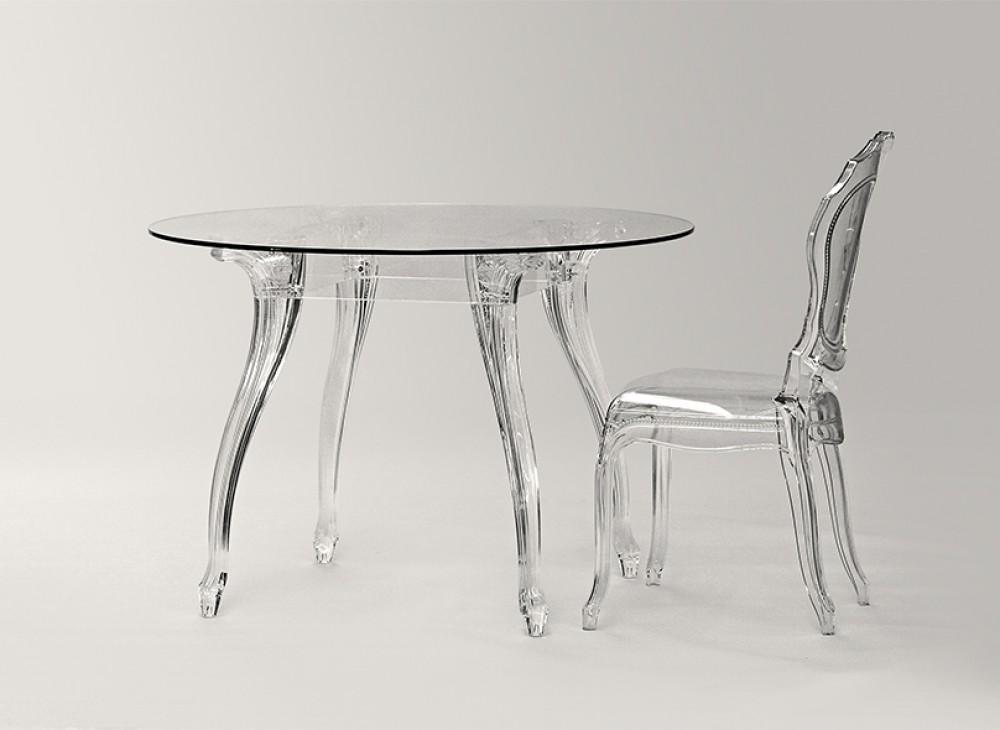 Barock Tisch rund Glas Esstisch rund Barock Tisch