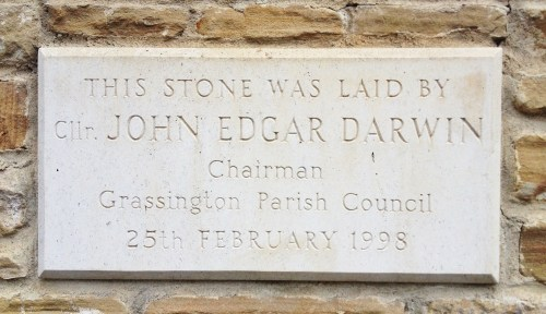 The stone laid by John Edgar Darwin