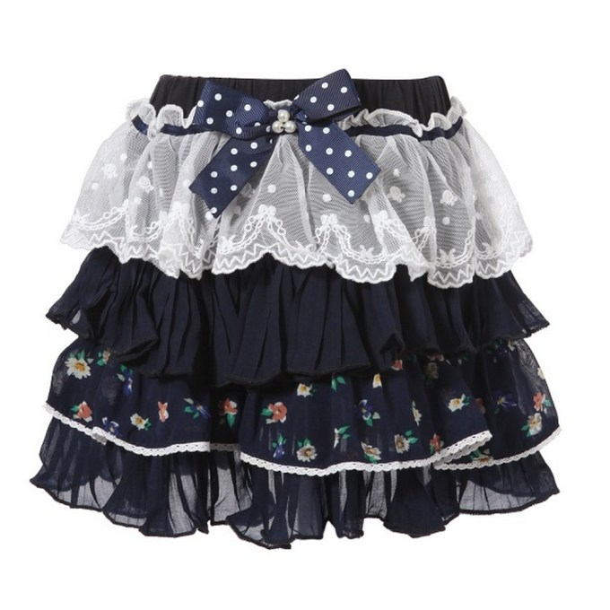 Lacy Multi-layered Skirt with Bow