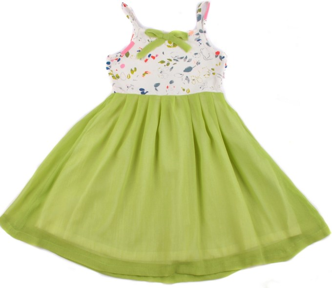 Spring Dress with Chiffon Skirt and Floral Top