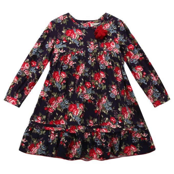 Floral Dress with Ruffling
