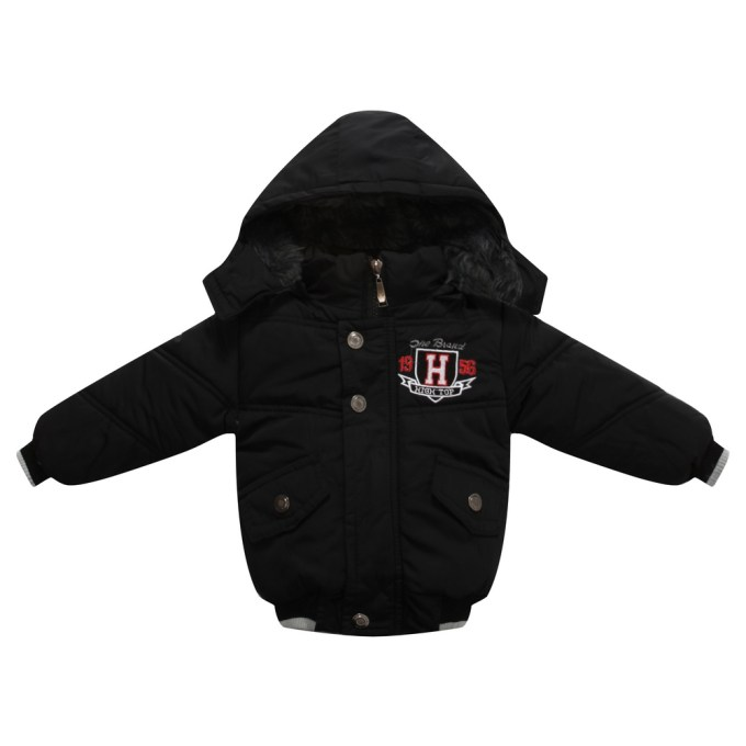 High Top Padded Jacket with Hood