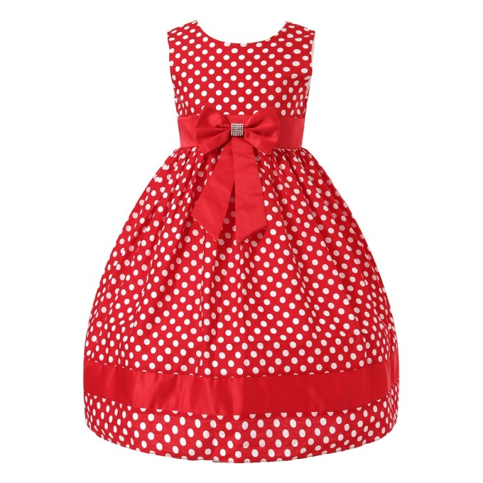 Polka Dotted Dress with Bow