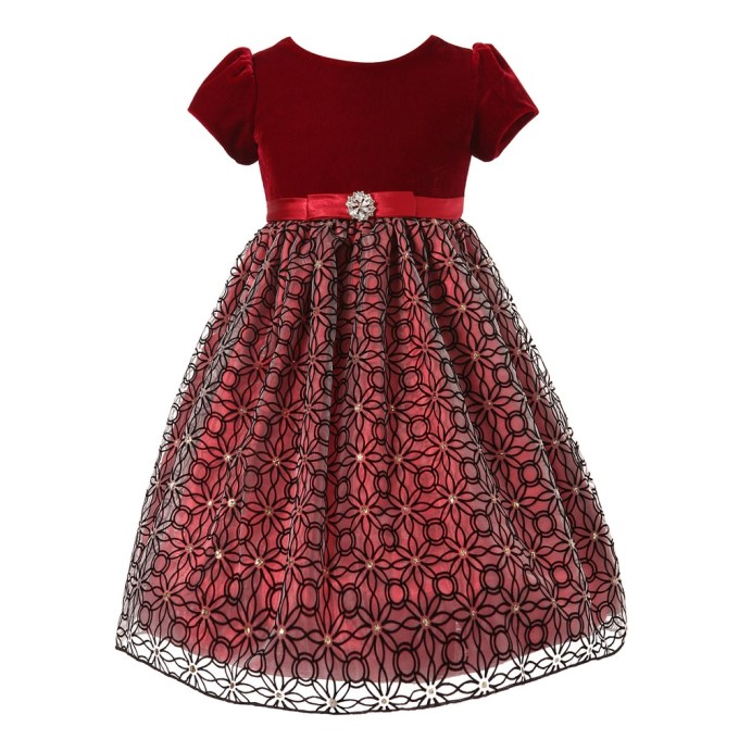 Velvet Dress with Patterned Tulle Skirt and Sequins