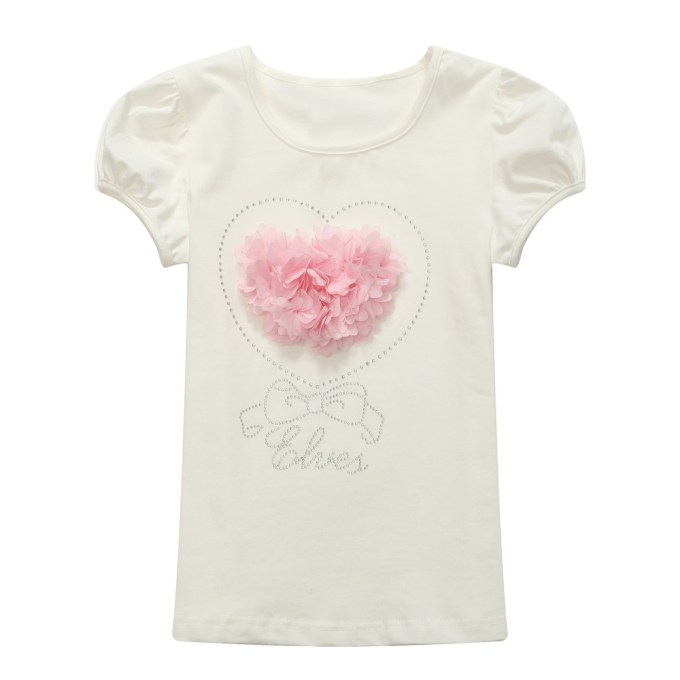 Elves' Top with White Ruffle and Heart