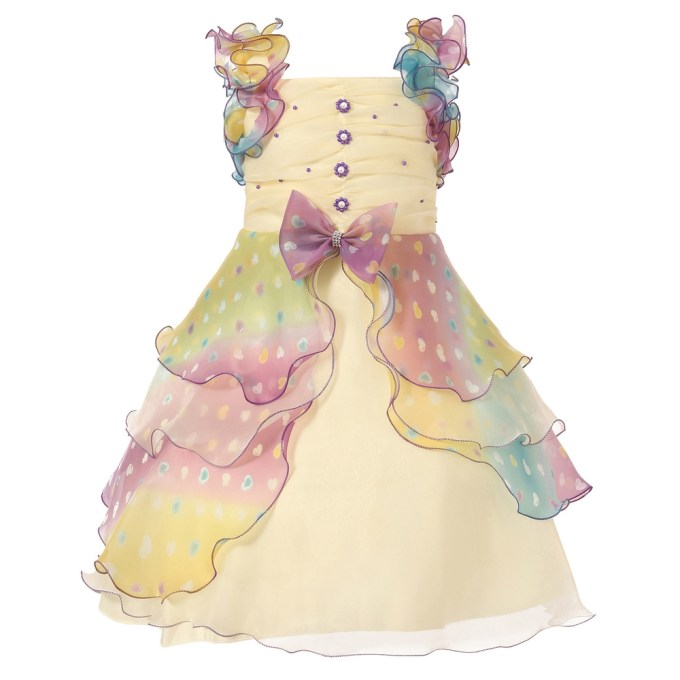 Dress with Pastel Ruffles and Pearls