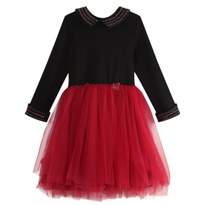 Studded Dress with Tulle Skirt