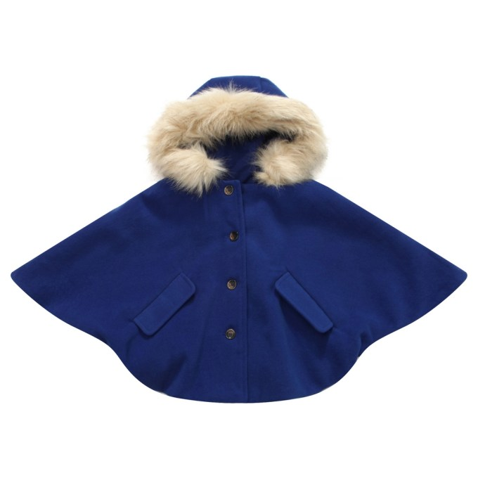 Fashion Cape with Button Placket
