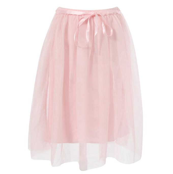 Charming Skirt with Two Layers of Mesh