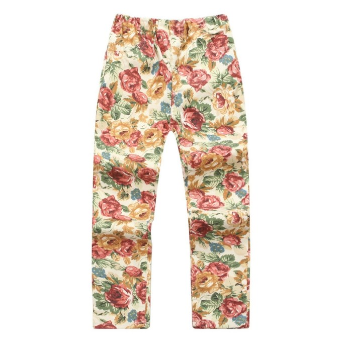 Pants with Colorful Flower Print
