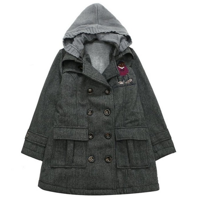 Double-breasted Jacket with Knit Hood