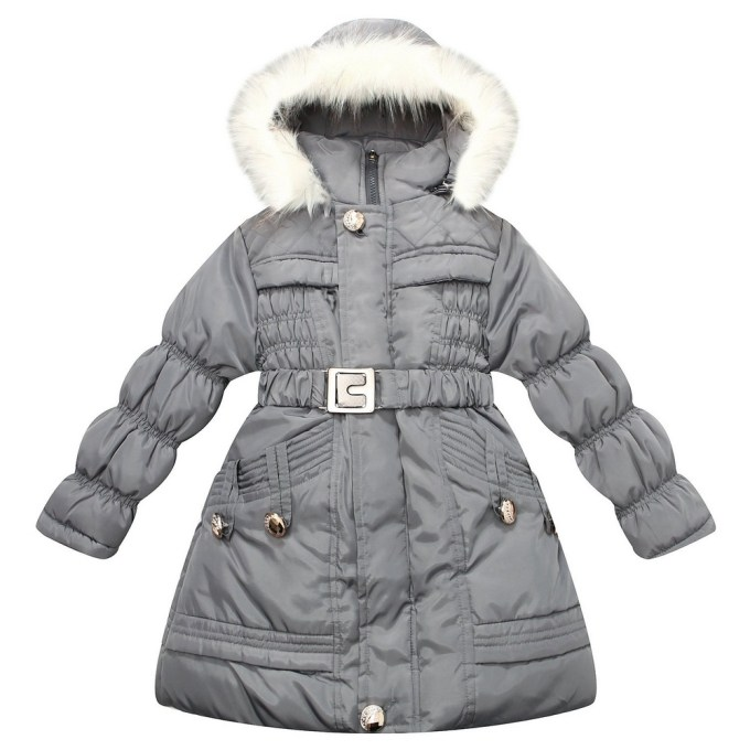 Padding Jacket with Hood and Fake Fur Lining
