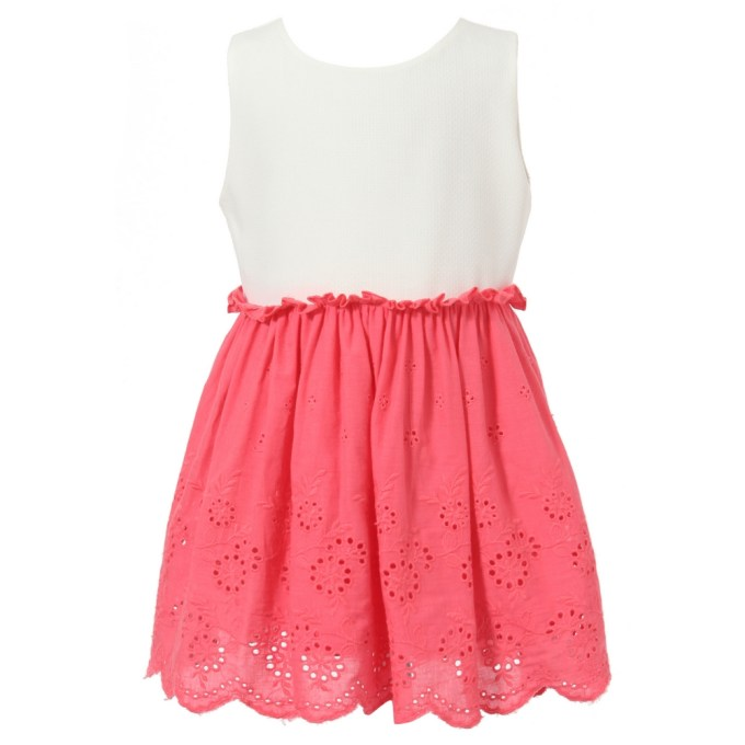 Dress With Contrasted Fancy Skirt